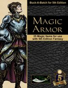 Magic Armor for 5th Edition Fantasy
