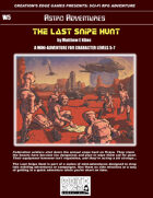 The Last Snipe Hunt- A Sci-Fi RPG Mini-Adventure