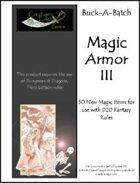 Buck-A-Batch: Magic Armor III