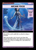 Arcane Focus - Custom Card
