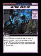 Arcane Warding - Custom Card