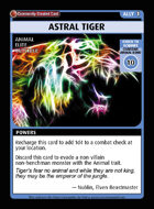 Astral Tiger - Custom Card