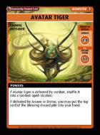 Avatar Tiger - Custom Card