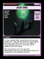 Acid Orb - Custom Card