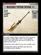 Blessed Totem Spear +1 - Custom Card