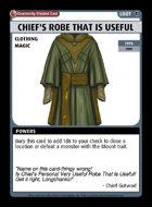 Chief's Robe That Is Useful - Custom Card