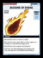 Blessing Of Dahak - Custom Card