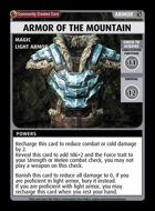 Armor Of The Mountain - Custom Card