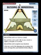 Blessing Of Minderhal - Custom Card