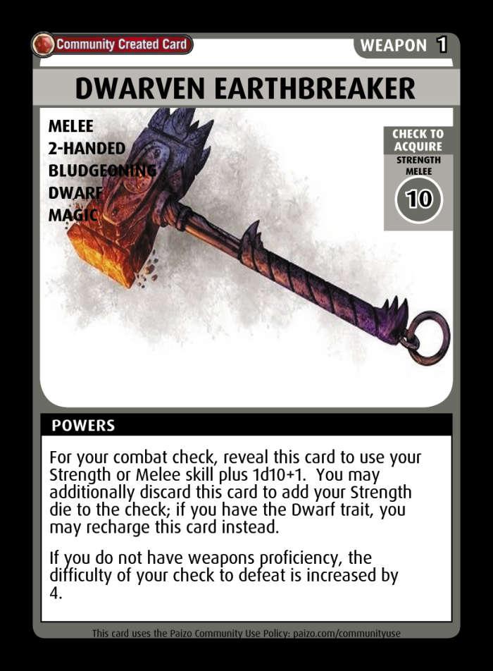 dwarven earthbreaker - custom card
