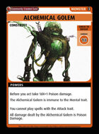 Alchemical Golem - Custom Card
