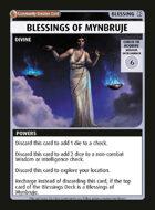 Blessings Of Mynbruje - Custom Card