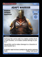 Adapt Warrior - Custom Card
