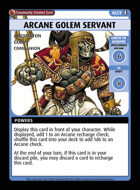 Arcane Golem Servant - Custom Card