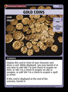 Gold Coins - Custom Card