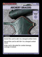 Archery Bracers - Custom Card