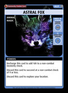 Astral Fox - Custom Card