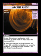 Arcane Surge - Custom Card