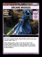 Arcane Missiles - Custom Card