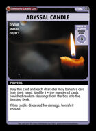Abyssal Candle - Custom Card