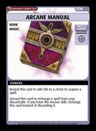 Arcane Manual - Custom Card