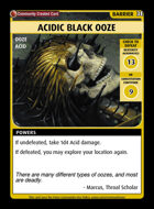Acidic Black Ooze - Custom Card