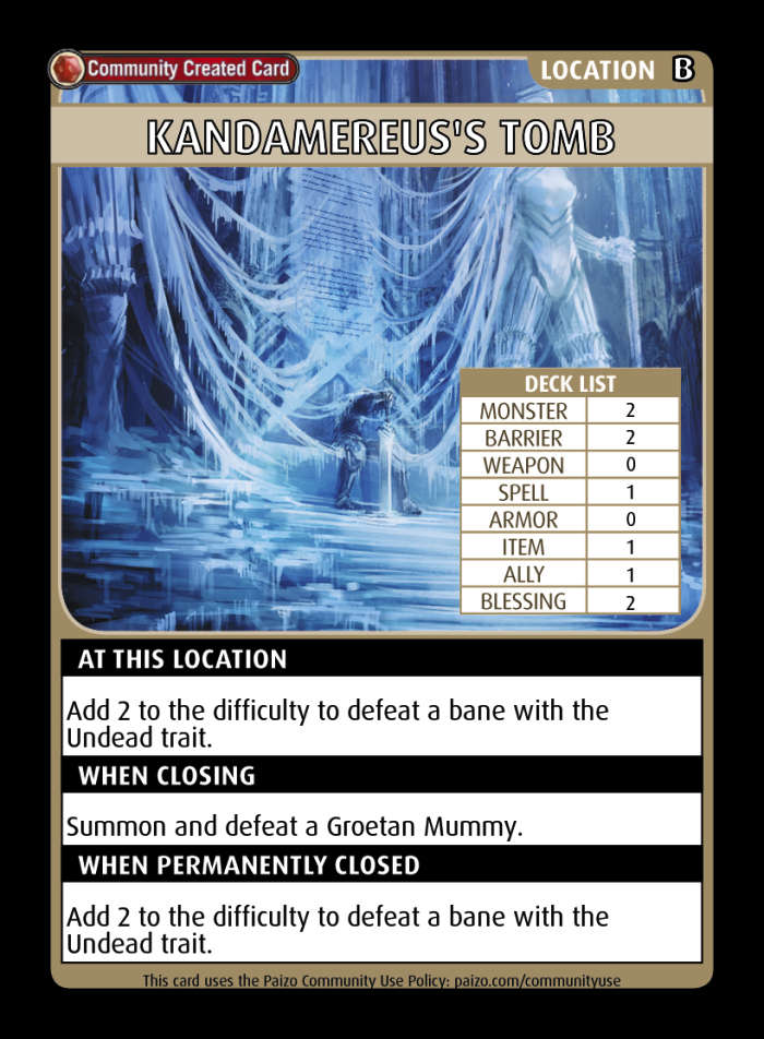 how to build seoni in pathfinder adventure card game