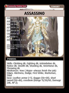 Assassino - Custom Card