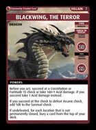 Blackwing, The Terror - Custom Card