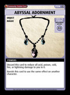 Abyssal Adornment - Custom Card