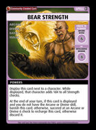 Bear Strength - Custom Card