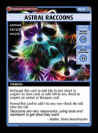 Astral Raccoons - Custom Card