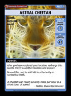 Astral Cheetah - Custom Card