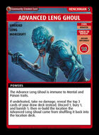 Advanced Leng Ghoul - Custom Card