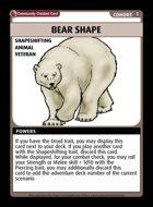 Bear Shape - Custom Card