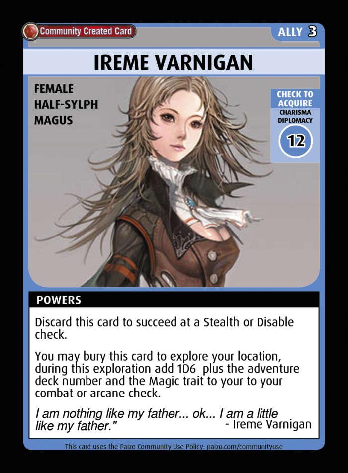 ireme varnigan - custom card