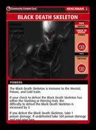 Black Death Skeleton - Custom Card