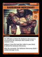 Barbarian Mercenary - Custom Card