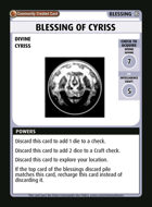 Blessing Of Cyriss - Custom Card