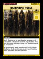 Barbarian Horde - Custom Card