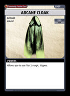 Arcane Cloak - Custom Card