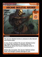 Arcane Skeletal Archer - Custom Card
