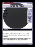 Bead Of Force - Custom Card