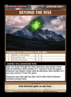 Beyond The Rise - Custom Card