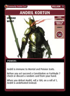 Andril Kortun - Custom Card