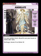 Anihilate - Custom Card