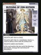 Blessing Of Zon-kuthon - Custom Card