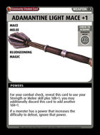 Adamantine Light Mace +1 - Custom Card