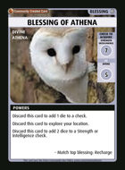 Blessing Of Athena - Custom Card