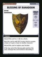 Blessing Of Rahadoum - Custom Card